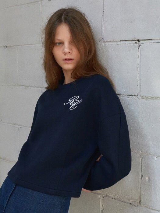 [FRONTROW X RECTO.] Structural Sleeve Crop Sweatshirt