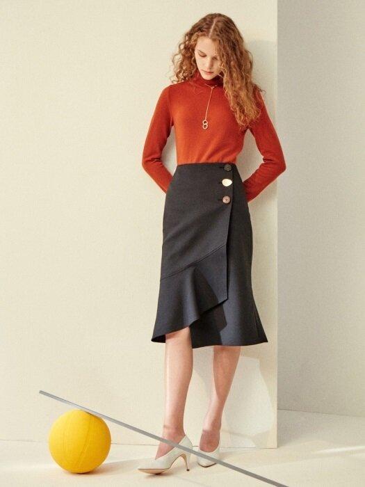 [FRONTROW x REJINA PYO] Asymmetric Flare Wrap Skirt