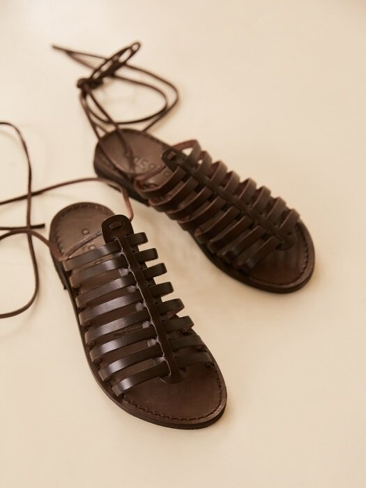 LACE-UP 2in1 SANDAL_DARK BROWN