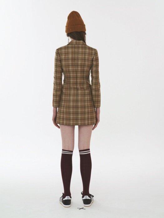 CHECK JACKET DRESS