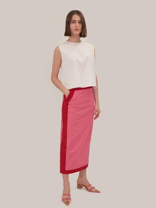 18SS COLORBLOCK PENCIL SKIRT