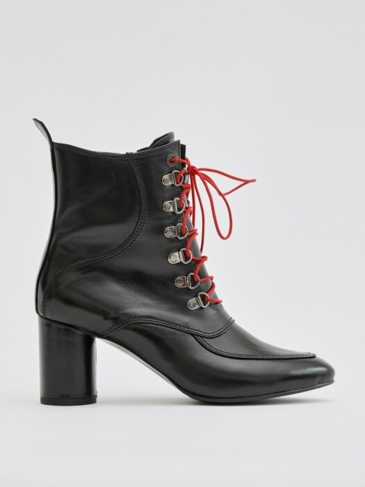 DALI 70 ZIPPED ANKLE BOOT IN BLACK LEATHER