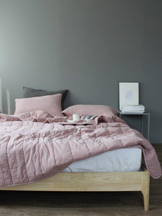 Flat season comforter bedding set_Pink (SS/Q)