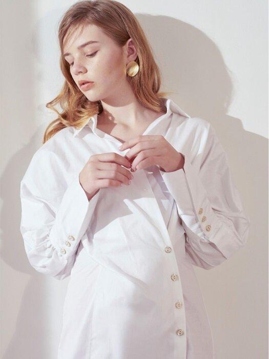 Wrap Shirt Dress_White