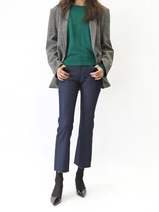 CMS30W - SOFT EASY FLARE - MID WAIST ( CROPPED )