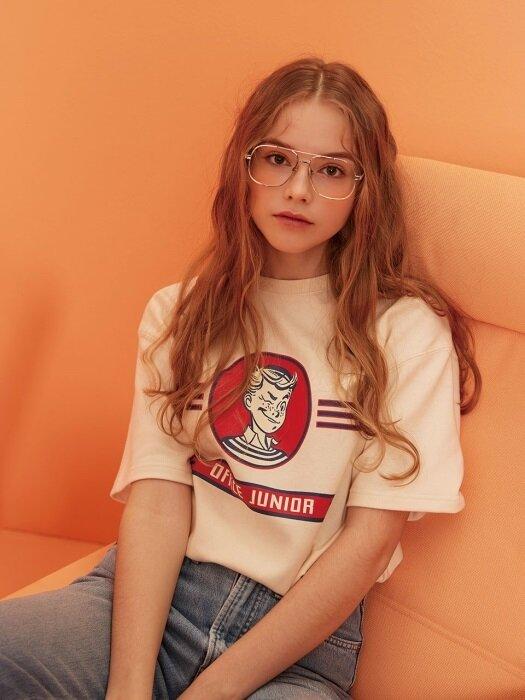 Office Junior 1/2 T-shirt (Cream)