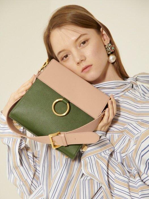 Two strap bag ver.2_pink&khaki