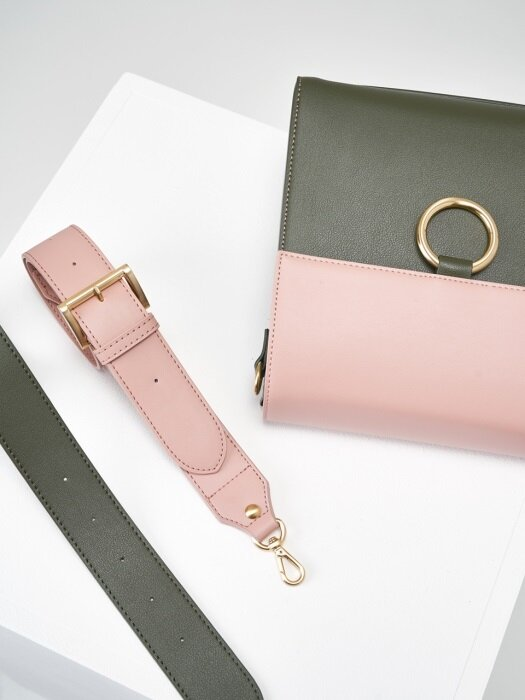 Two strap bag ver.2_pink&khaki