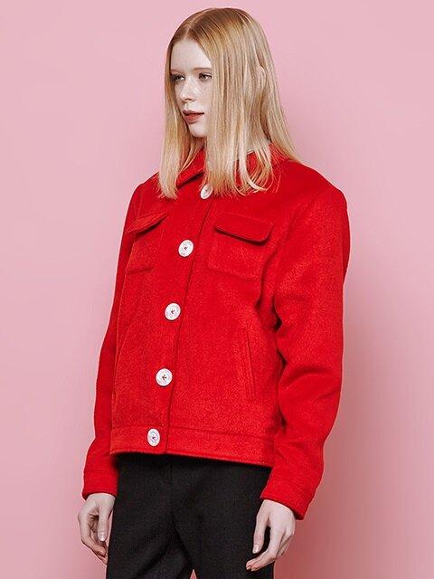 pocket felt jacket