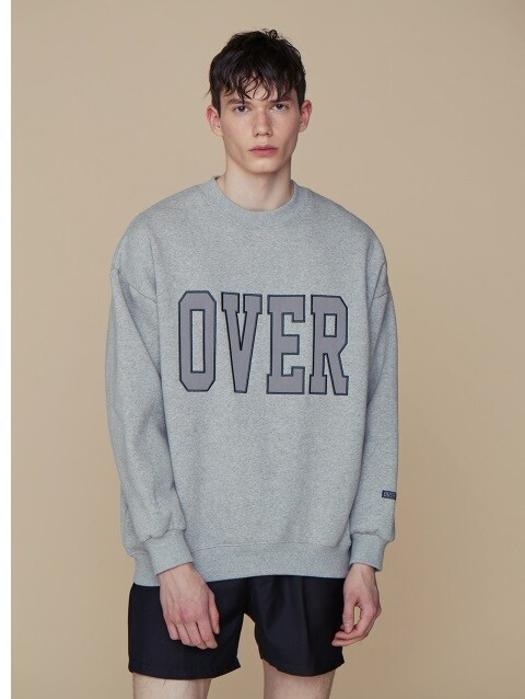 [SALE 15%] OVER SWEATSHIRT GY