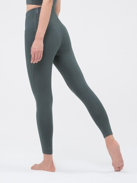 High Rising Leggings-Kale