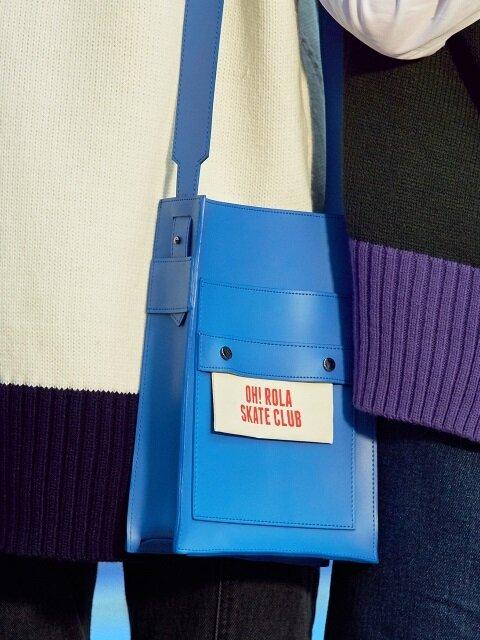 (B-0009)OHROLA LEATHER MINI BAG BLUE