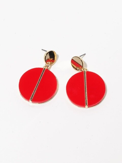 Alice Coin Earrings red