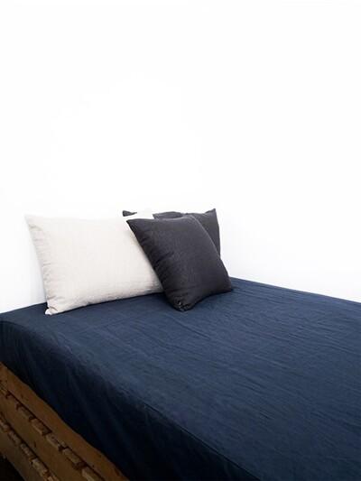 soft linen mattress cover_ tone down navy