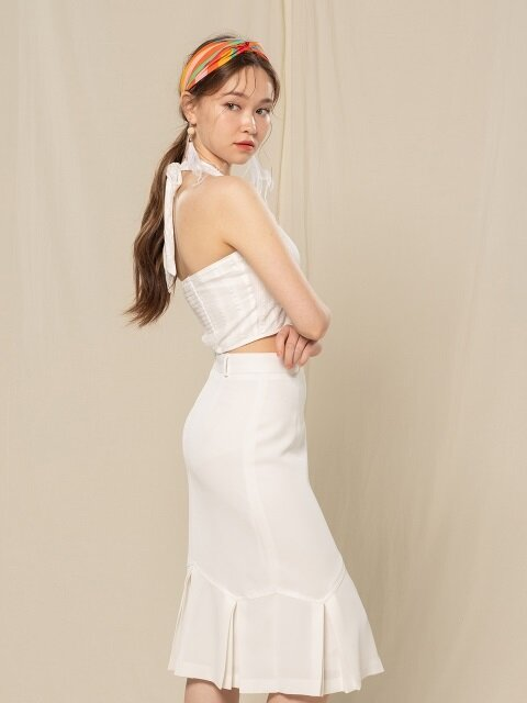 PLEATS SKIRT (WHITE)