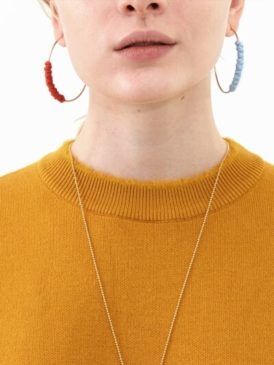 Color Rope Silver Earrings (2 colors)