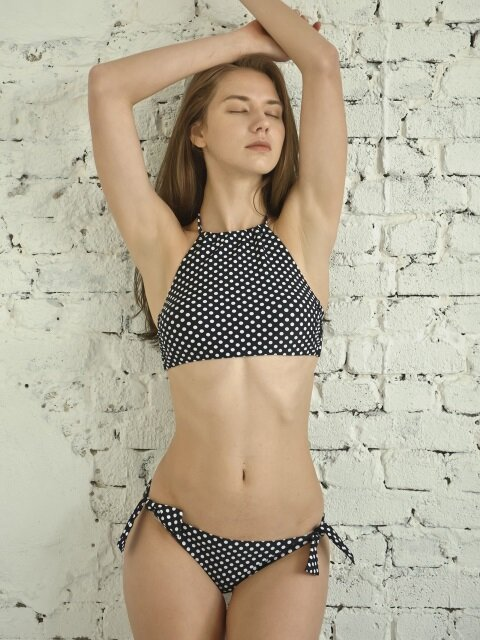 Black Dots Ribbon Brief