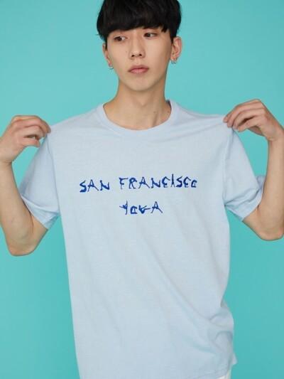 SAN FRANCISCO YOGA SS T-SHIRT SKY BLUE