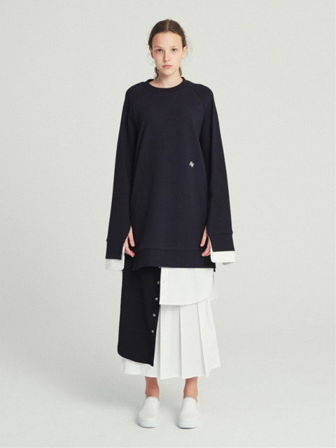 18SS PLEATED PANEL WRAP SKIRT