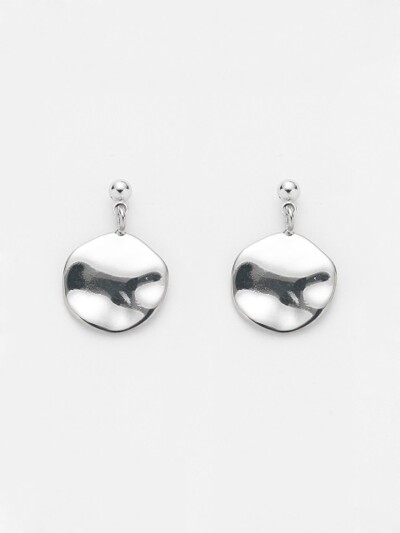 SEAWATER SURFACE DROP EARRING_SILVER