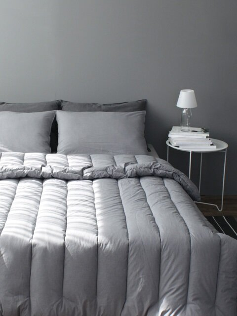 Tranquil gray washing comforter (SS/Q)