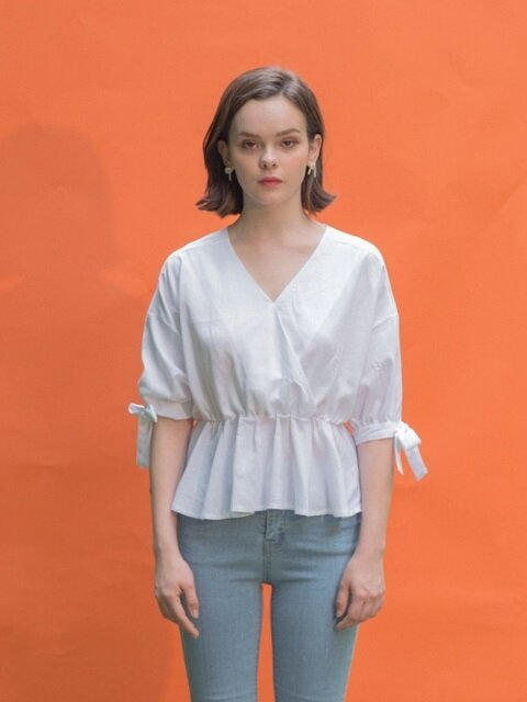 Linen Cross Blouse