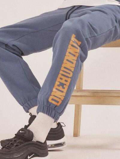 17 A/W BASIC FONT SWEAT PANTS-MIDNIGHT BLUE