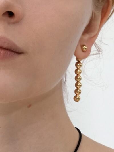 Dropped Bells Unbalanced Earrings