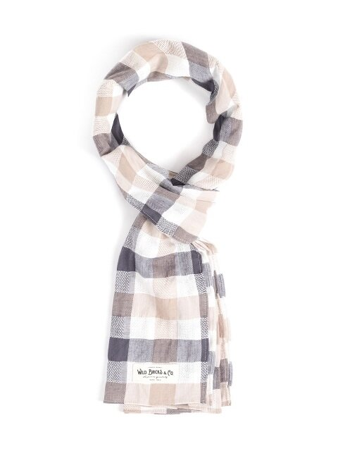 CR CHECK STOLE (beige)