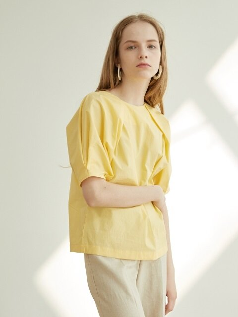 DOUBLE TUCKED BLOUSE_YELLOW
