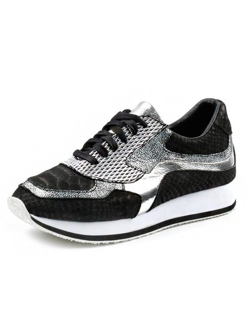[MEN]Snake pattern sneakers Apus S3101BK