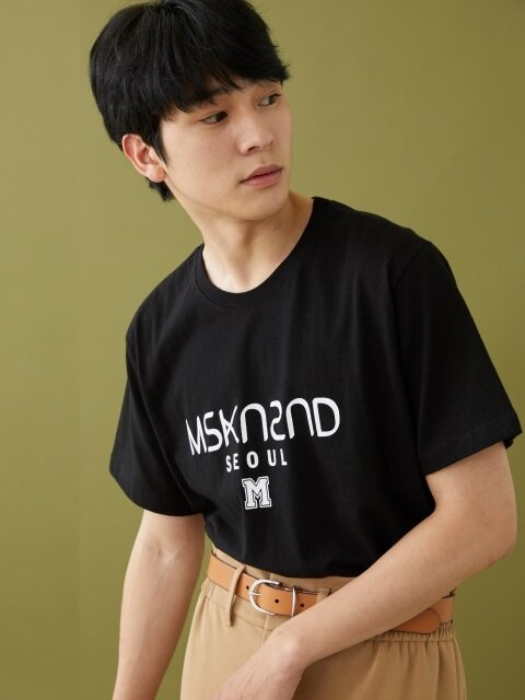 MSKN2ND LOGO PRINTED SS T-SHIRT BLACK