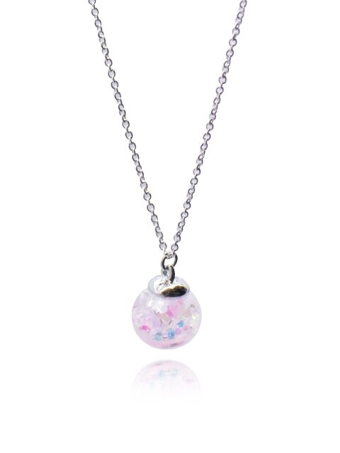 Cherry Blossoms Snowball Necklace