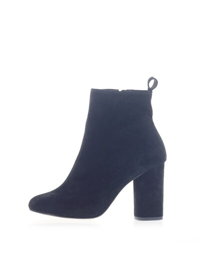 Basic simple zipper tail rond heel ankle(P6561)