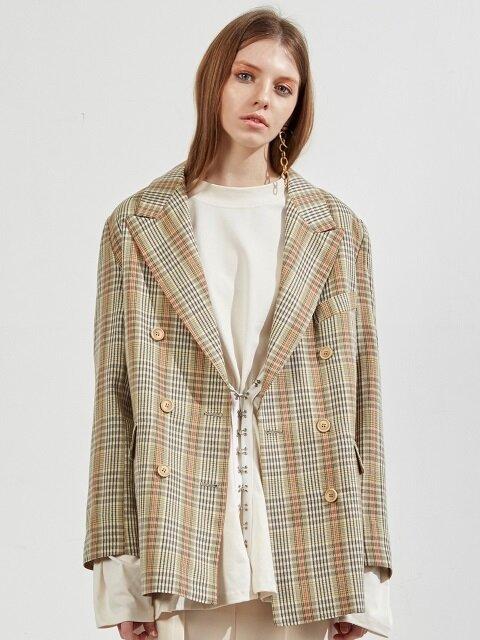 ww multi pin check jacket