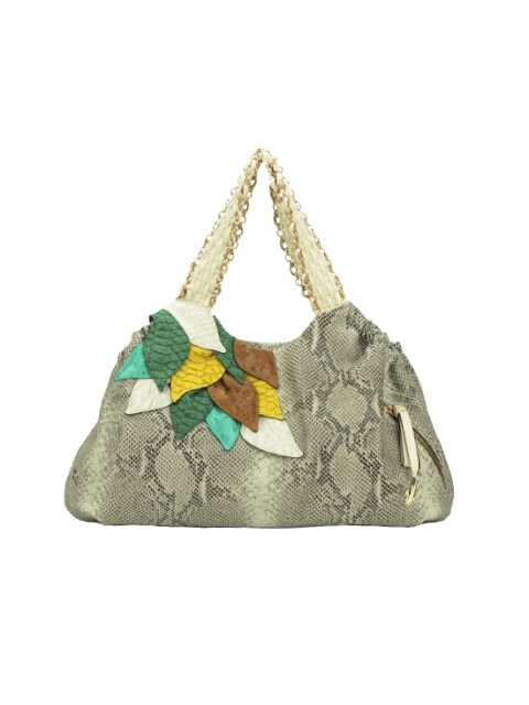SERENA NATURAL SNAKE TOTE & SHOPPER - NATURAL