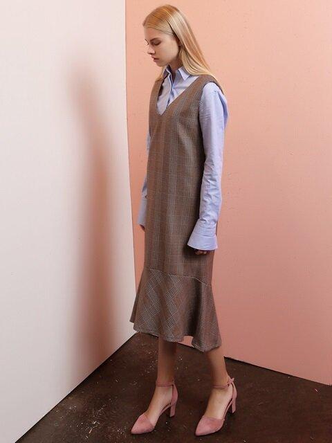 GLEN CHECK DRESS