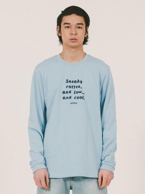 SNEAKY-COOL LONGSLEEVE TEE (SKY BLUE)