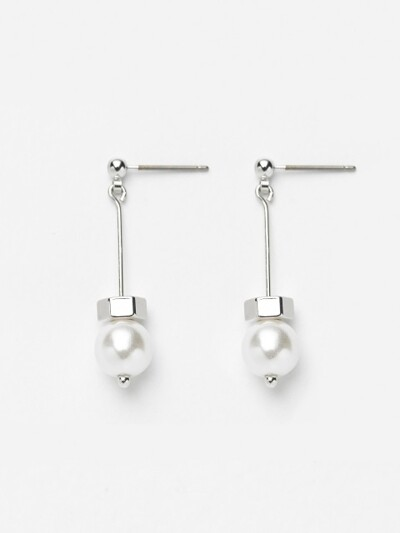 SILVER POINT DROP EARRING