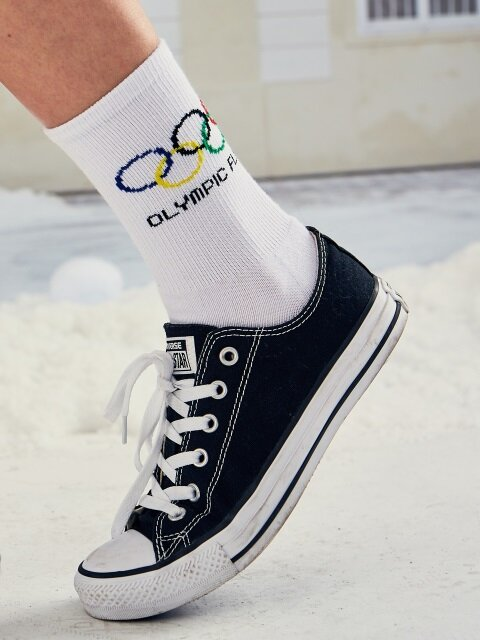 (UNISEX)LO POINT SOCKS(WHITE)