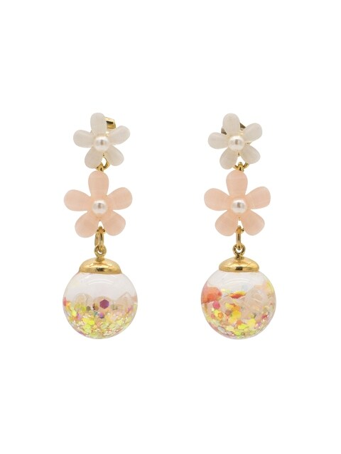 Cancan Flower Snowball Earrings