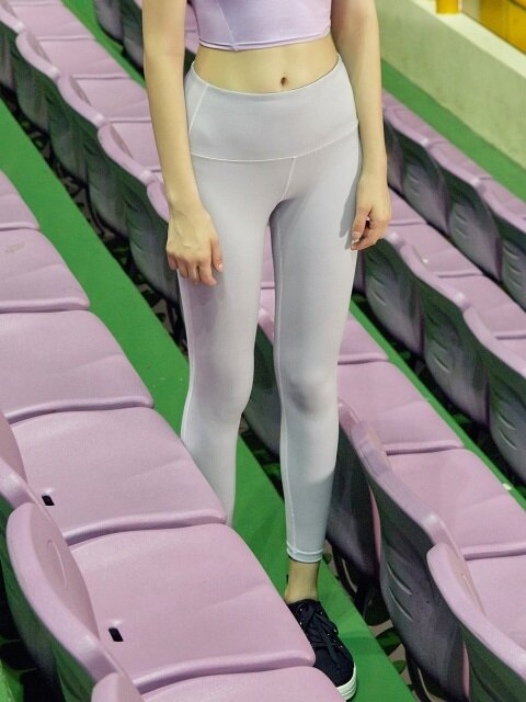 (LS-0014)BACK POCKET LEGGINGS LIGHT GREY
