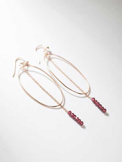 [SILVER 925] LAFFINE DROP CIRCLE EARRING