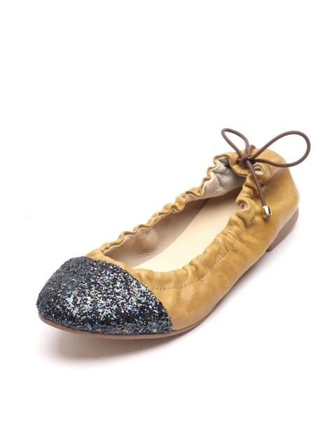 cap toe flats(P3583)