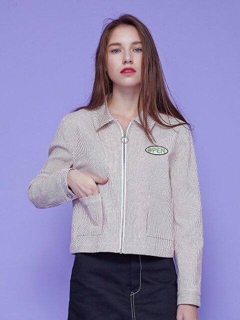open wappen jacket
