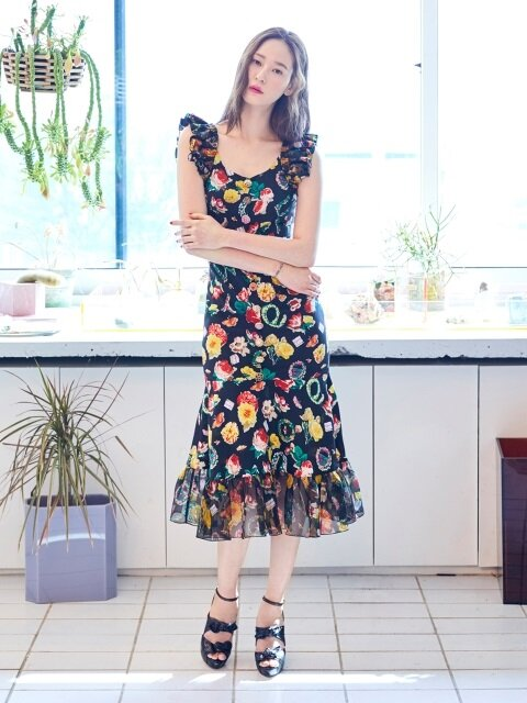 Button Collage Dress