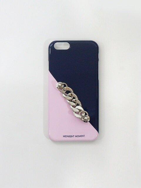 pink navy chain case
