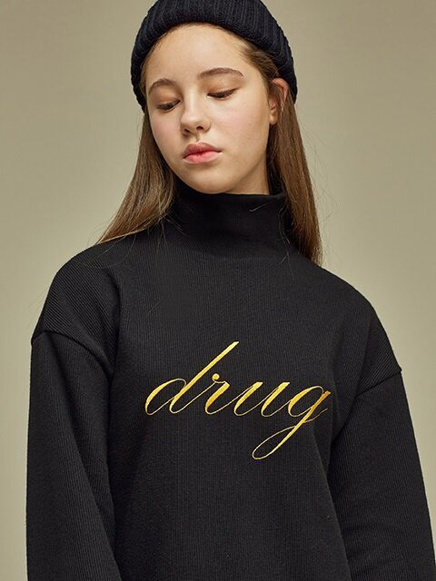 [SALE60%] DRUG KNIT SWEATSHIRT BK