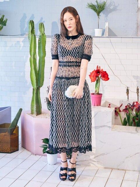 Lattice Lace Dress