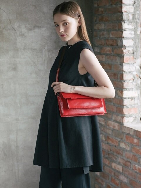 Polygon Womans Clutch[Red]